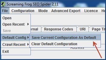 screming-frog-salvataggio-configurazione