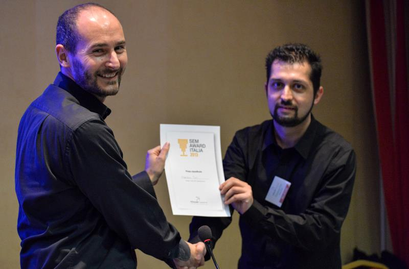 Gianpaolo Lorusso premia Francesco all'ADworld Experience